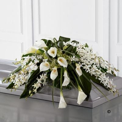 Calla Lily and Orchid Casket Spray *