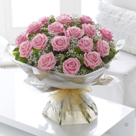 Heavenly Pink Rose Hand tied