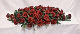 Red rose 4 ft Coffin Spray