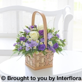 Scented White & Lilac Basket