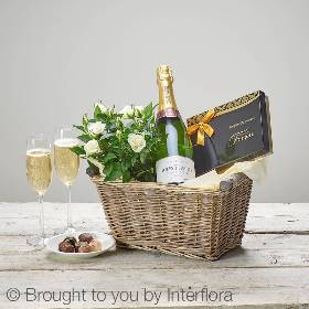 Luxury Champagne gift basket.