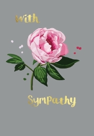 'With Sympathy' gift card