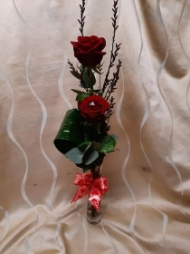 Double Red Rose vase