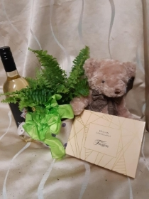 Fern gift set with wine